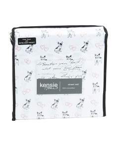Valentine Frenchies Sheet Set