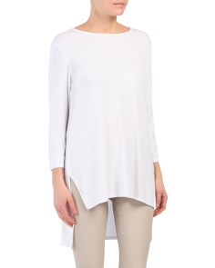 Boat Neck Hi-lo Top
