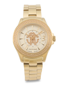 Women's Swiss Made Crystal Accent Bracelet Watch