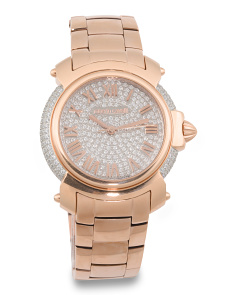 Women's Swiss Made Crystal Dial Bracelet Watch