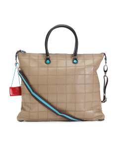 Made In Italy Opaco Patchwork Leather Tote