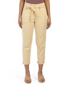 Juniors Belted Utility Skinny Pants