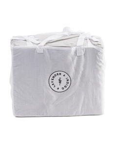 Organic Cotton Ruched Duvet Set