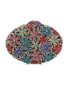 Crystal Multi Floral Clutch