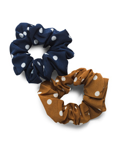 2pk Polka Dot Scrunchies