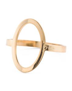 Made In Italy 14k Gold Open Circle Ring