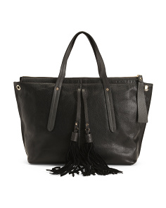 Made In Italy Nappa Leather Tote