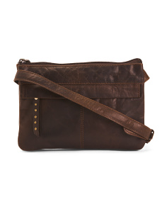 East West Leather Crossbody
