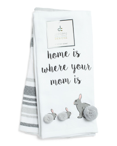 Set Of 2 Bunny Mama Kitchen Towels