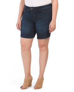 Plus Shaper Stretch Jean Shorts