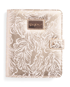 Metallic Palm Agenda Folio