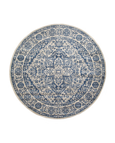 Made In Turkey 6x6 Traditional Round Rug