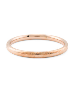 Made In Italy 14k Rose Gold Textured Bangle Bracelet