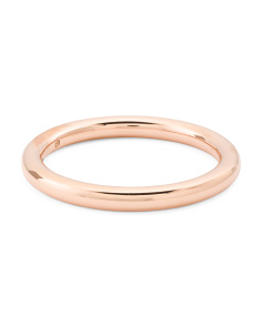 Made In Italy 14k Rose Gold Polished Bangle Bracelet