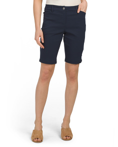 Petite Bermuda Stretch Shorts