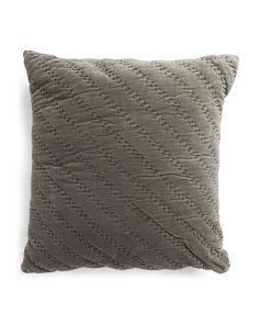 Made In India Washed Velvet Euro Pillow