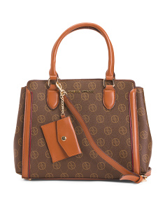 Triple Compartment Logo Satchel