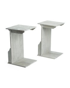 Set Of 2 C Tables With Magazine Holder