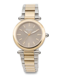 Women's Swiss Made Idillio Two Tone Bracelet Watch