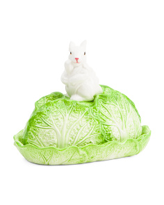 Cabbage Bunny Butter Dish