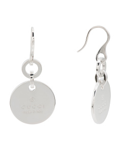Made In Italy Sterling Silver Trademark Drop Earrings