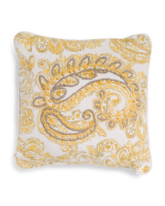 Made In India 20x20 Embroidered Reversible Pillow