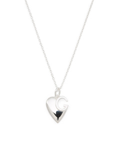 Made In Italy Sterling Silver G Charlotte Heart Necklace