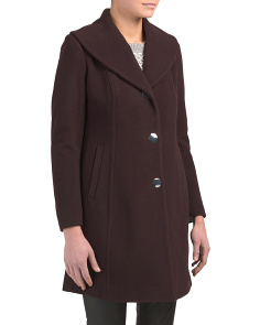 Petite  Shawl Collar Wool Coat