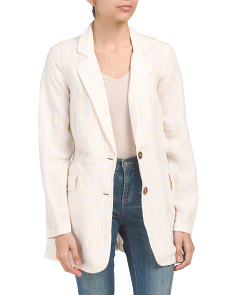 Linen Notch Collar Blazer