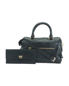 Leather Top Handle Satchel