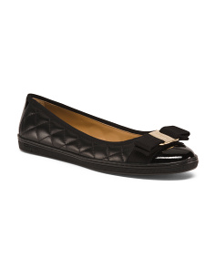 Made In Italy Quilted Leather Flats
