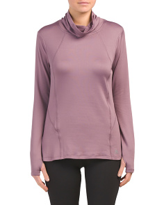 Brushed Jersey Cowl Neck Top