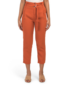 Juniors D Ring Belted Trousers