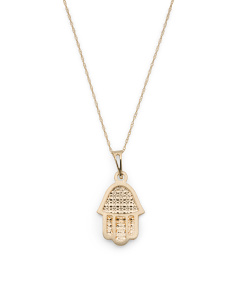 Made In Italy 14k Gold Hamsa Necklace