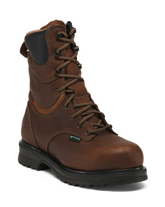 Leather Lace Up Steel Toe