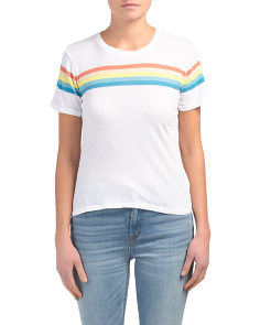 Made In Usa Lakota Rainbow Printed Top