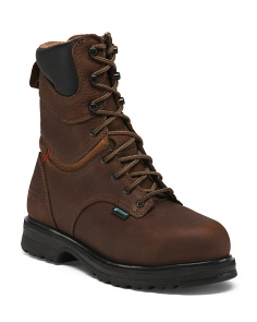 Wide Lace Up Steel Toe Boots