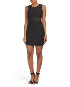 Jackie Sleeveless Mesh Insert Dress