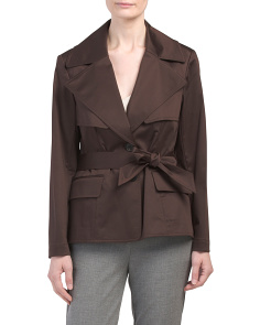 Petite Stretch Trench Jacket