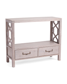 2 Drawer Console Table With Cutouts