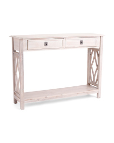 2 Drawer Console With Cutouts