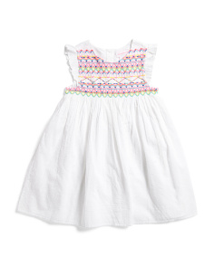 c62a1ee4c Little Girl Embroidery And Beaded Dress ...