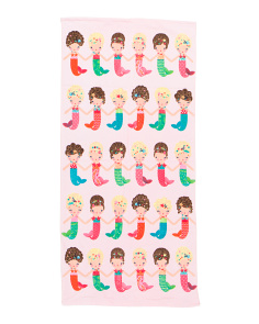 Kids Mermaid Dolls Beach Towel