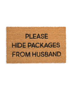 18x30 Please Hide Packages Door Mat
