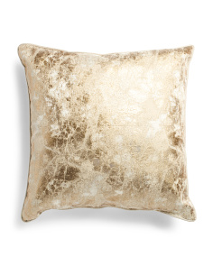 Made In Usa 22x22 Marble Metallic Pillow