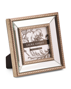 4x4 Beaded Mirrored Photo Frame