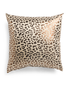 Made In Usa 22x22 Cheetah Pillow