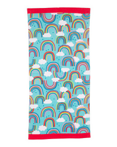 Rainbow Clouds Beach Towel