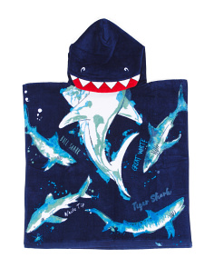 Watercolor Sharks Beach Towel