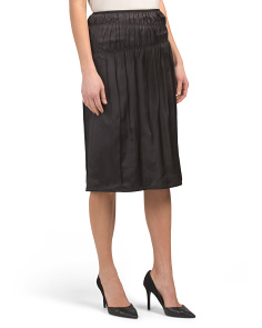 Ruched Slip Skirt